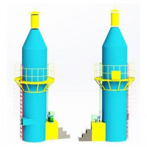 Purification tower of acid-base waste gas